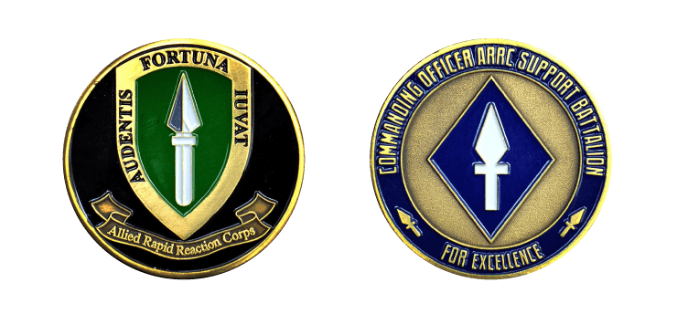 Commanding Officer ARRC SP BN Coin - Challenge Coins UK - Signals