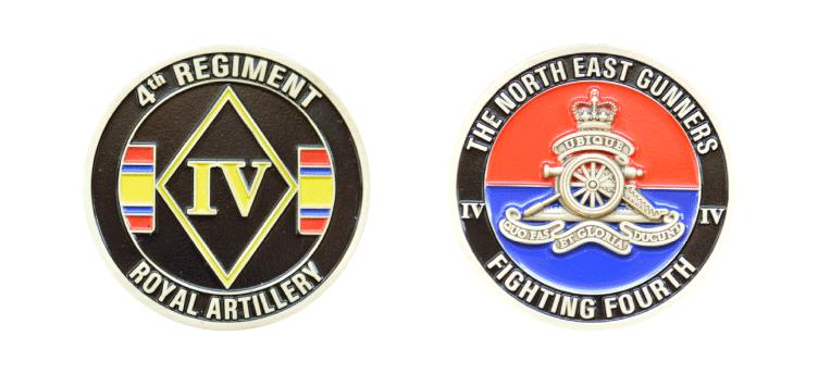 fourth regiment large coin