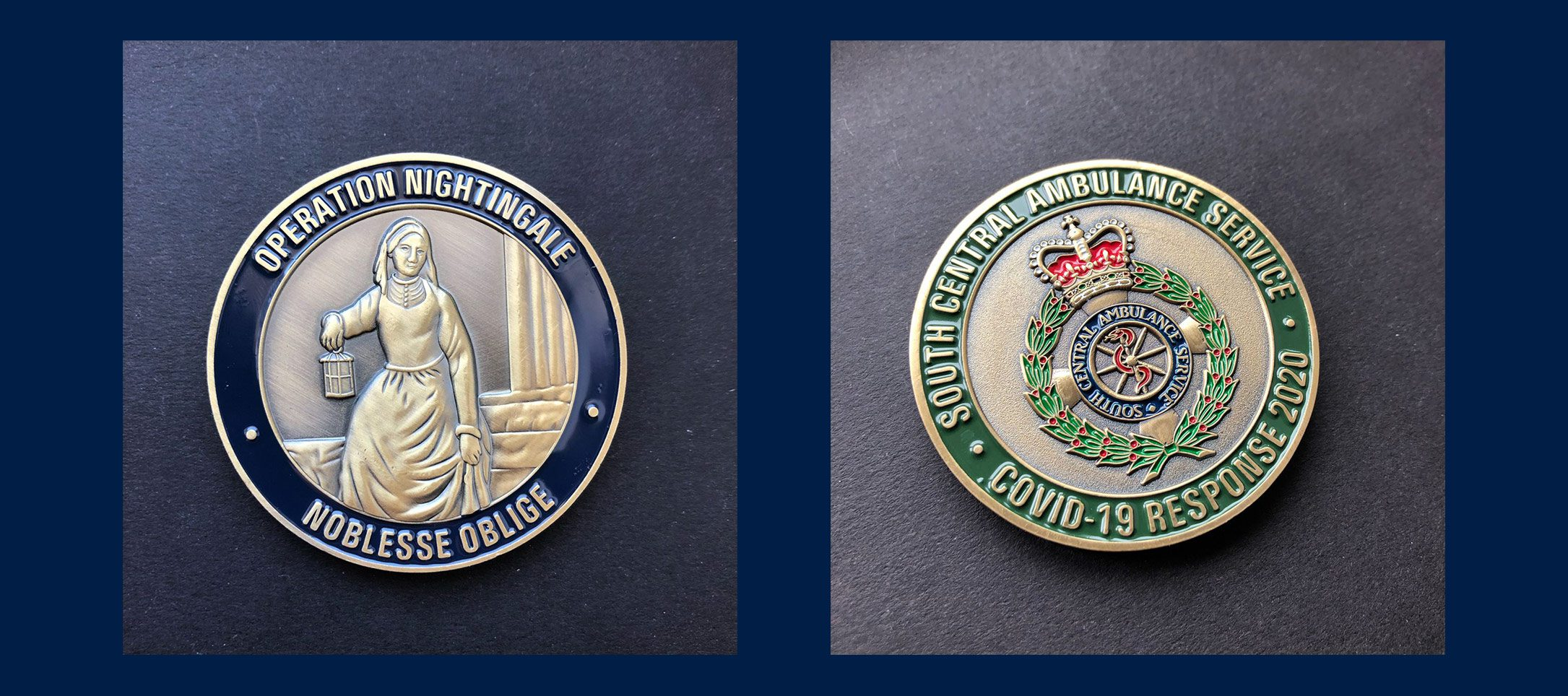 Custom recognition coins NHS