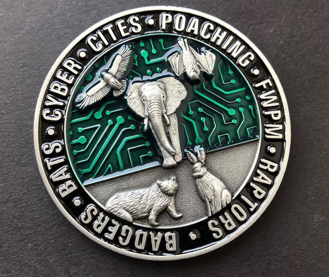 The National Wildlife Crime Unit Coin