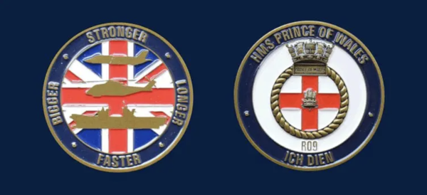 HMS Prince of Wales Coins UK